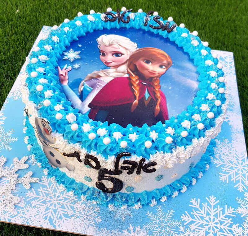 עוגת אנה ואלזה ליום הולדת