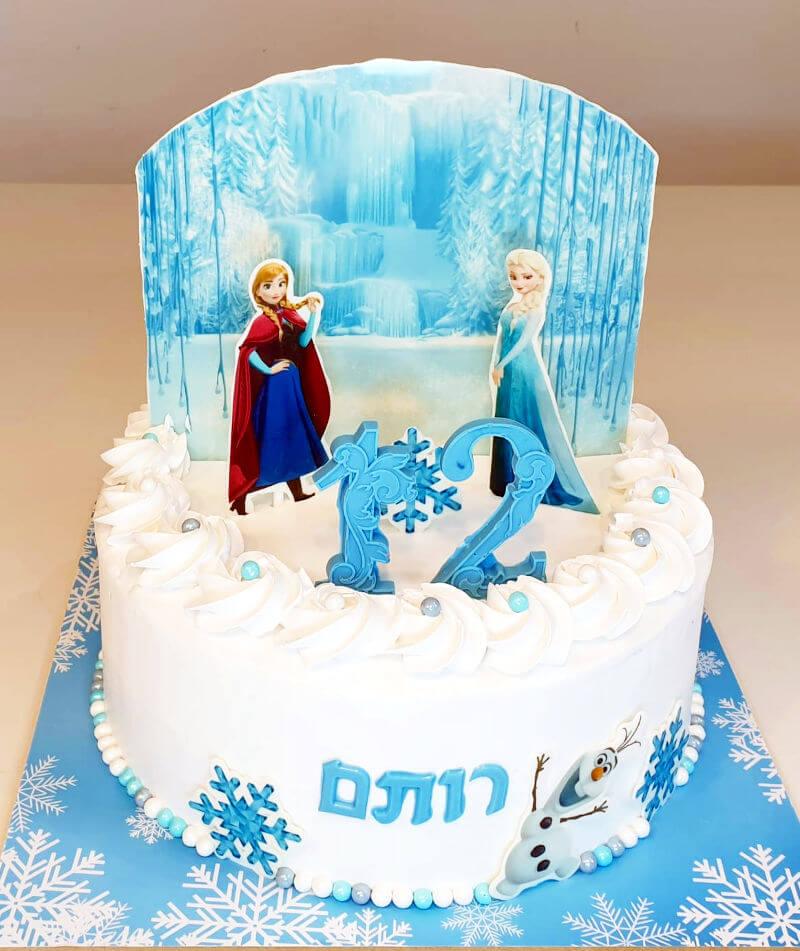 עוגת אלזה ואנה מפרוזן