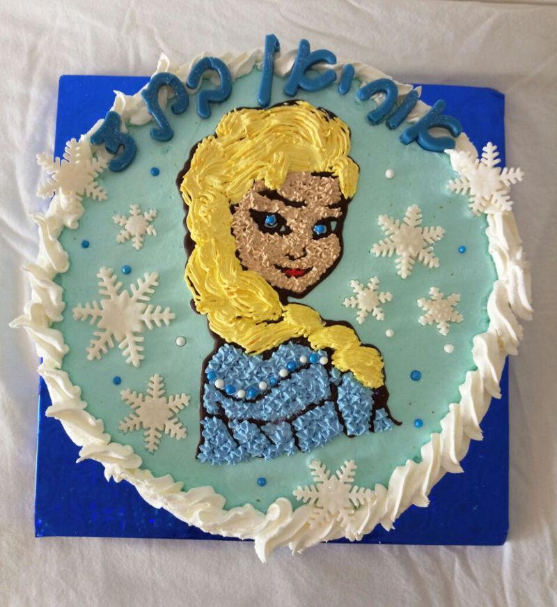 עוגת אלזה זילוף