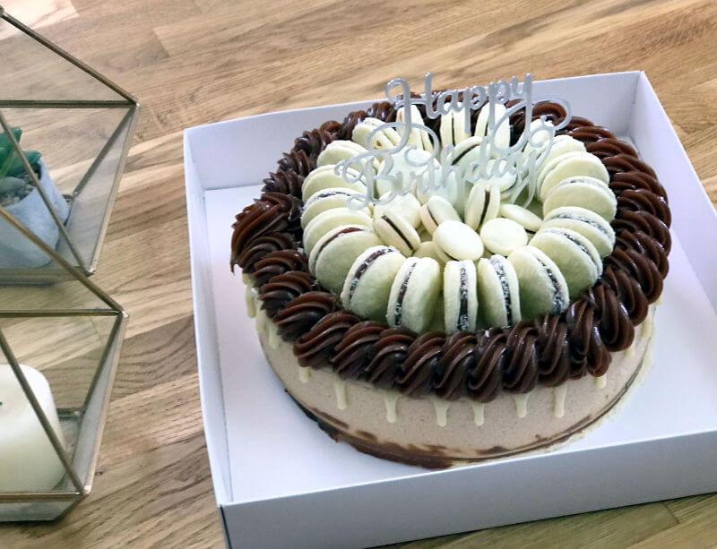 עוגת אלפחורס בצורת לב לאמא