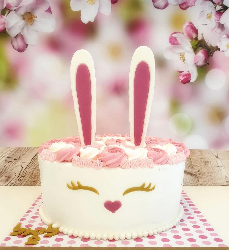 עוגת זילוף ארנב ליום הולדת