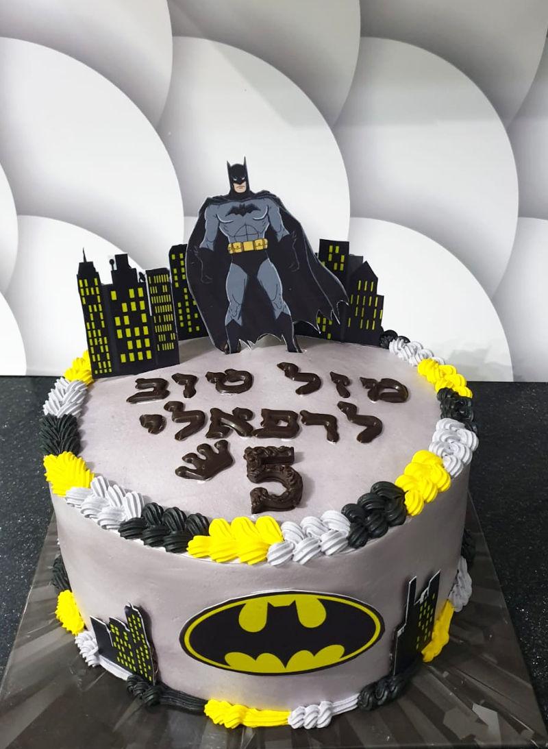 עוגת באטמן מעוצבת
