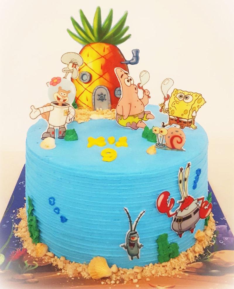 עוגת בוב ספוג מעוצבת