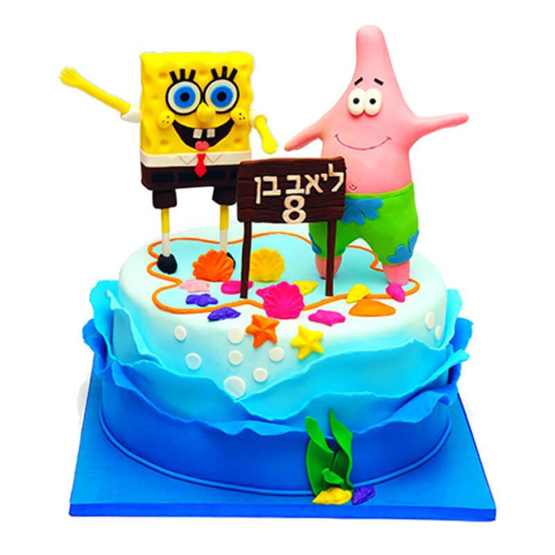 עוגת בוב ספוג וחברים