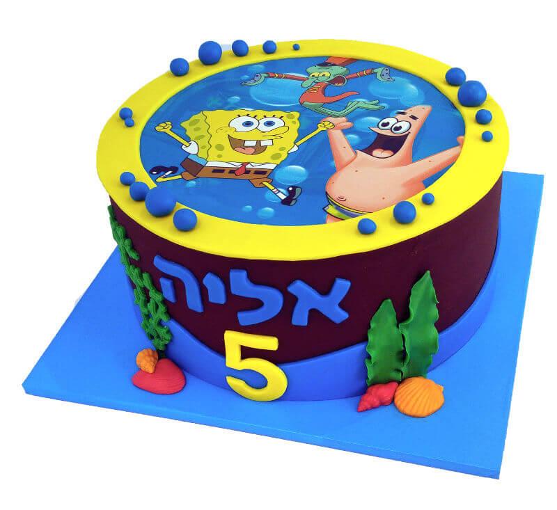 עוגת שוקולד בוב ספוג