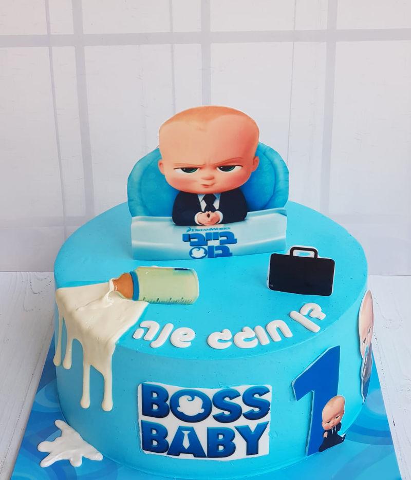 עוגת בייבי בוס לגיל שנה