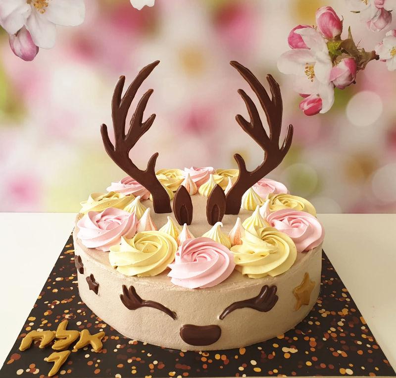 עוגת במבי זילוף