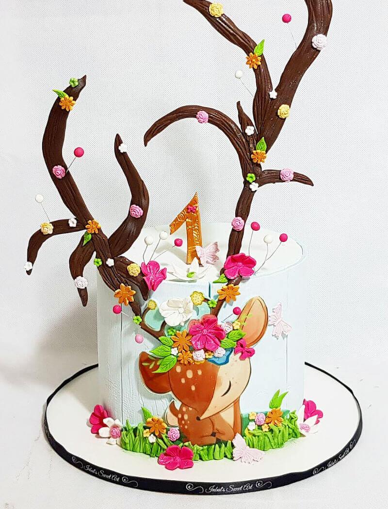 עוגת במבי לגיל שנה