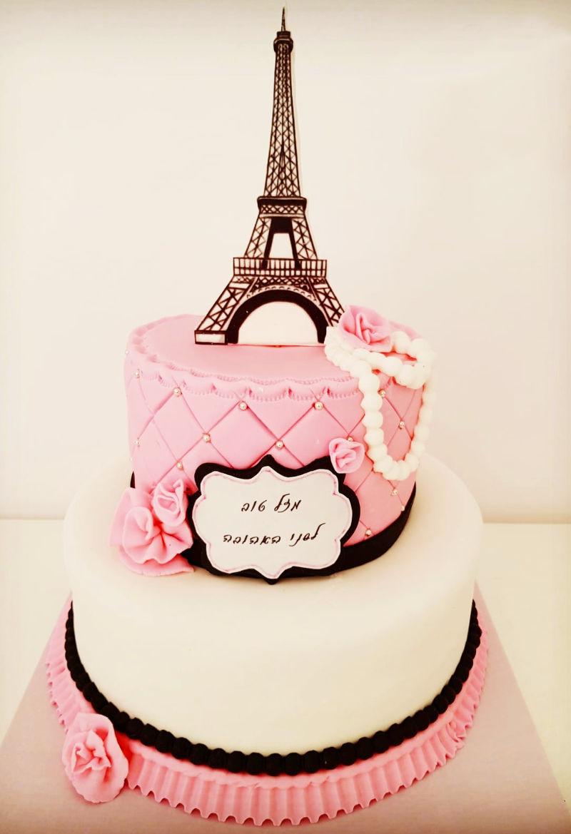 עוגה מיוחדת לבנות מבצק סוכר