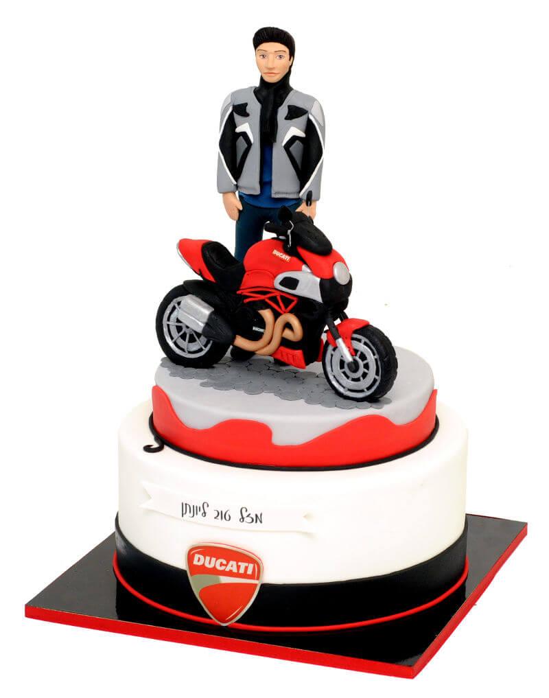 עוגת בצק סוכר אופנוע דוקאטי