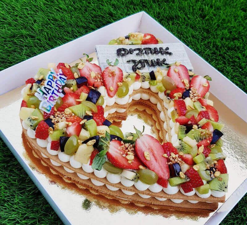עוגת בצק פריך ופירות ליום האהבה