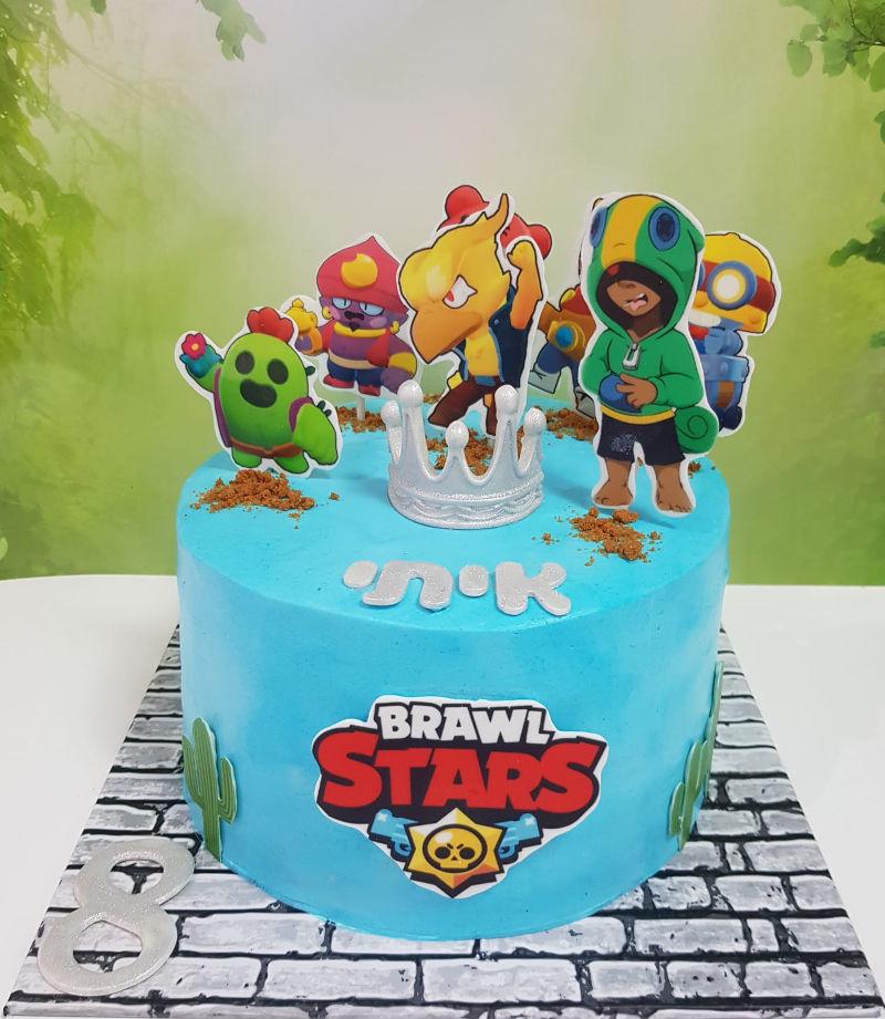 עוגת בראול סטארס מעוצבת ליום הולדת