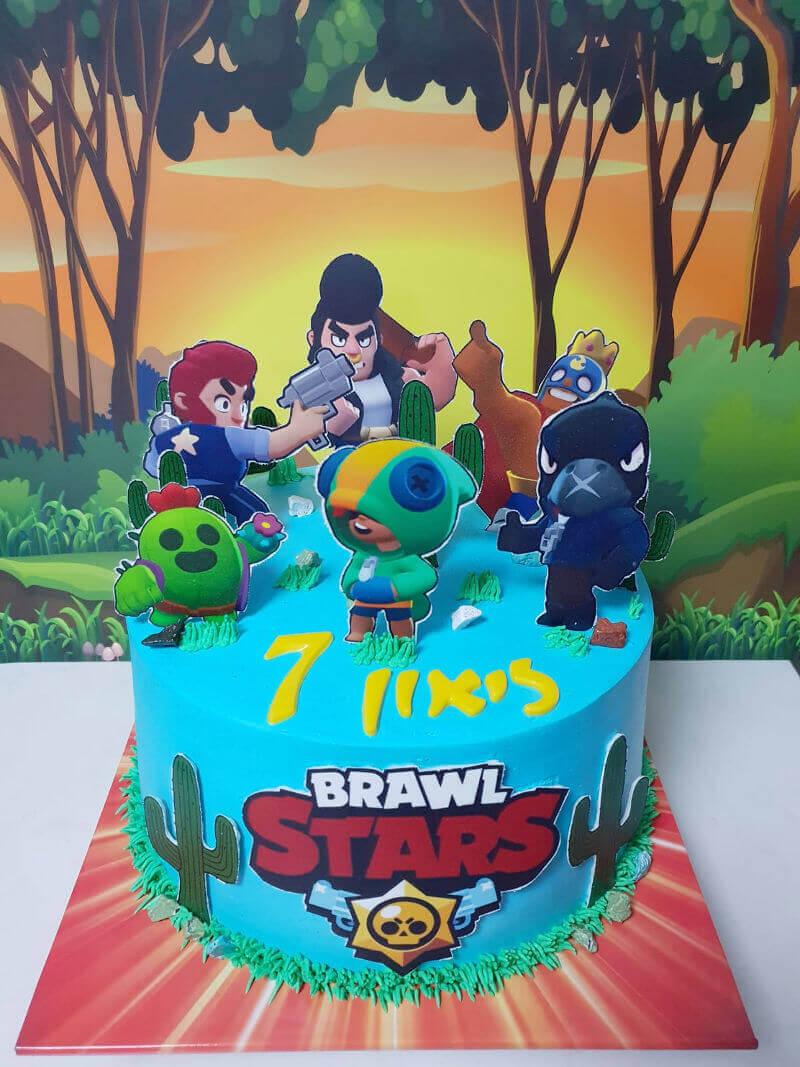 עוגת בראול סטארס מעוצבת
