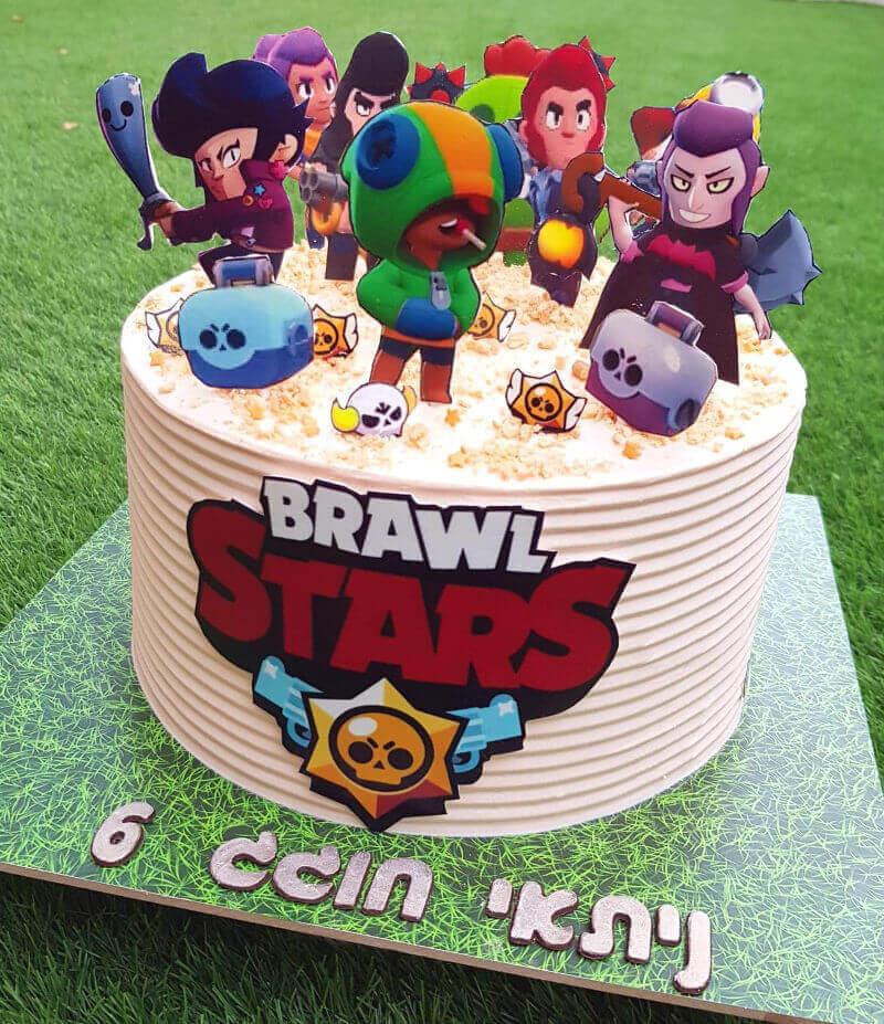 עוגת בראול סטארס ליום הולדת