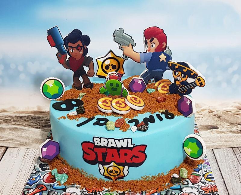 BRAWL STARTS עוגת בראול סטארס כשרה