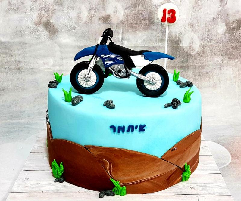 עוגת בר מצווה אופנוע