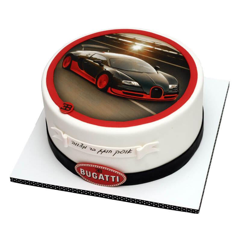 עוגת בר מצווה בעיצוב מכונית בוגאטי