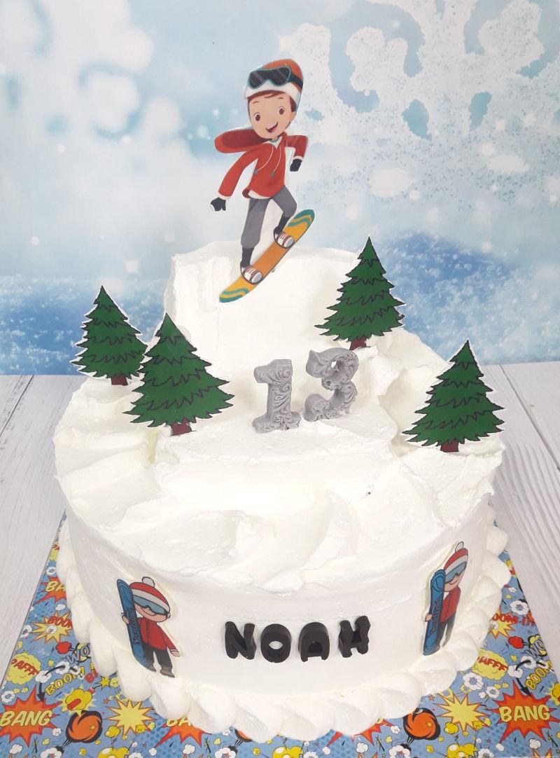 עוגת בר מצווה בשלג