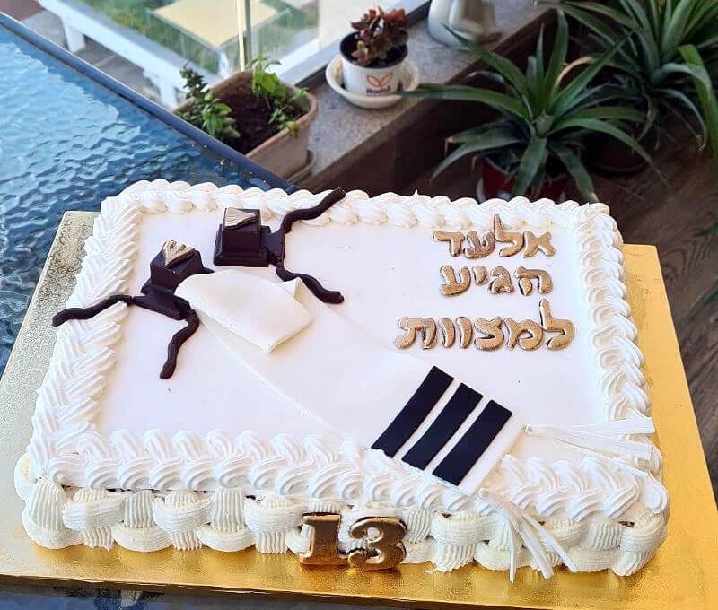 עוגת בר מצווה מלבנית