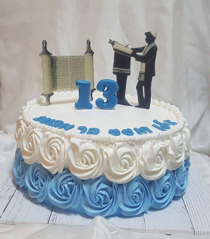 עוגת בר-מצווה זילוף