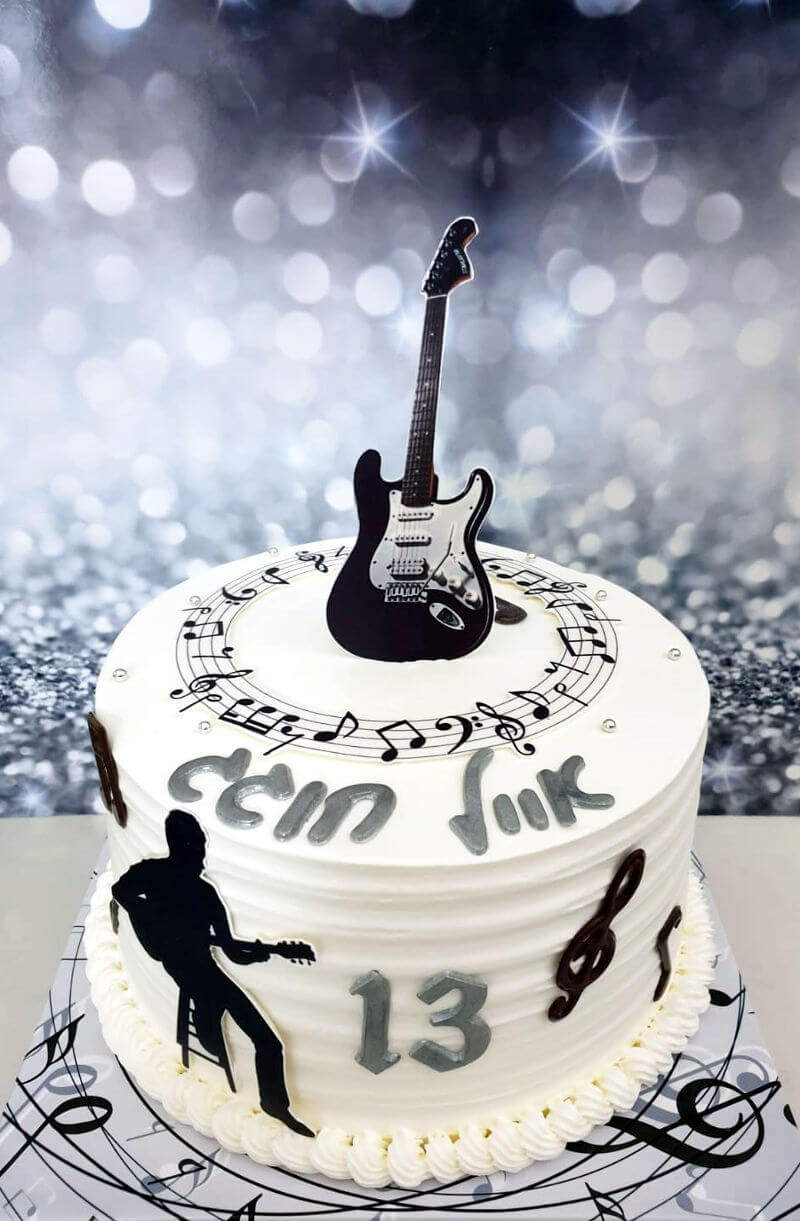 עוגת בר מצווה למוזיקאי