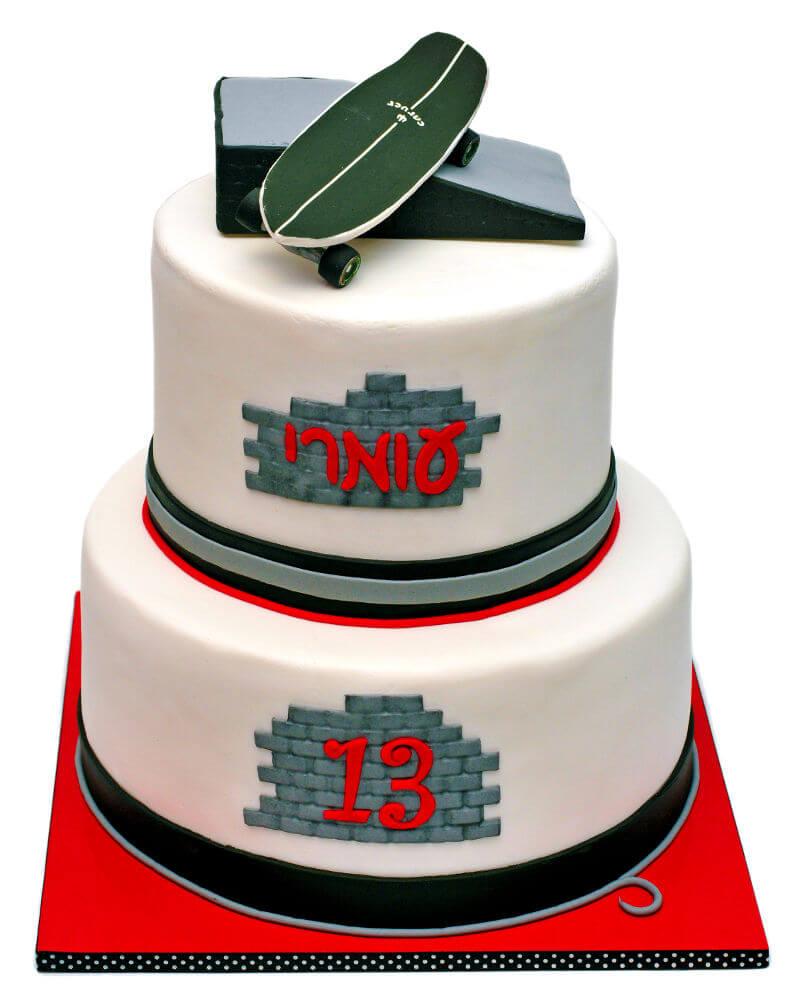 עוגת קומות מיוחדת לבר מצווה