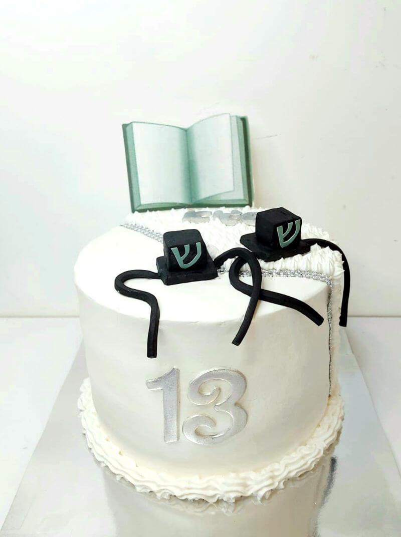 עוגת בר מצווה עם תפילין