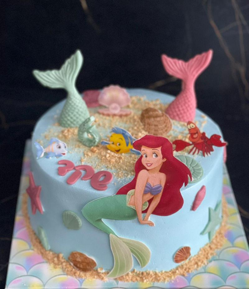 עוגת בת הים ליום הולדת