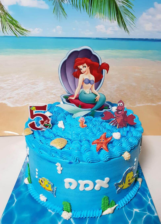 עוגת זילוף בת הים