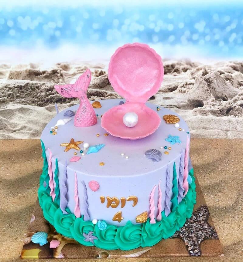עוגת בת הים מעוצבת
