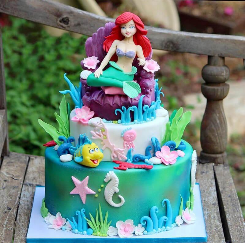 עוגת בת הים מפוסלת
