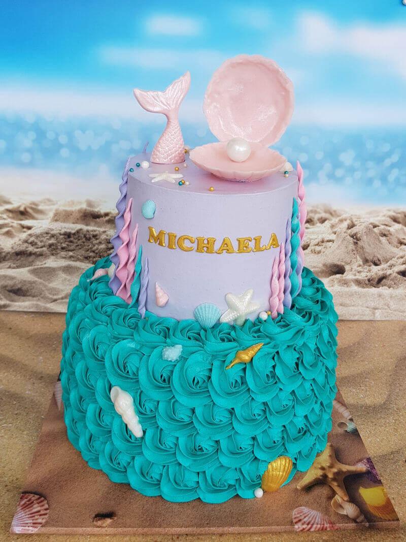 עוגת זילוף מדהימה של בת הים