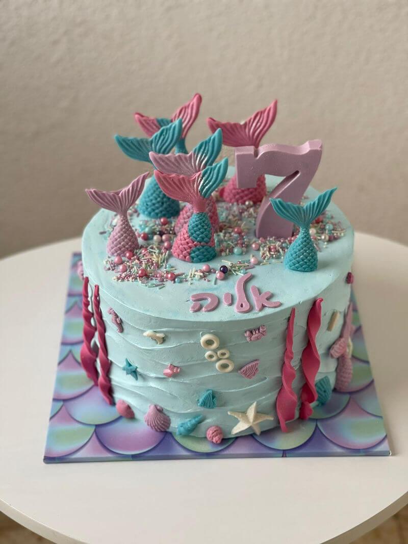 עוגת בת ים מעוצבת