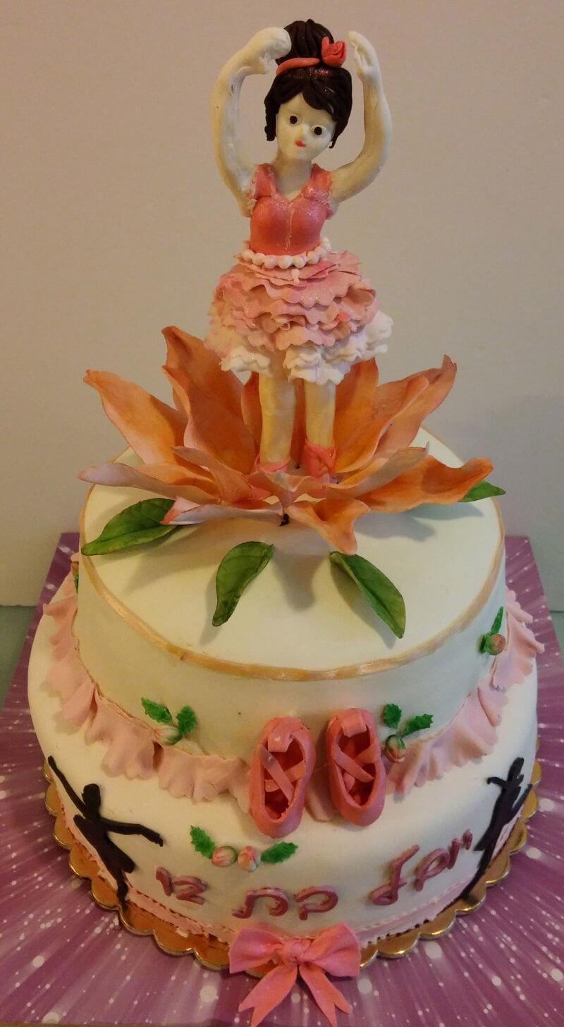 עוגה לבת מצווה רקדנית