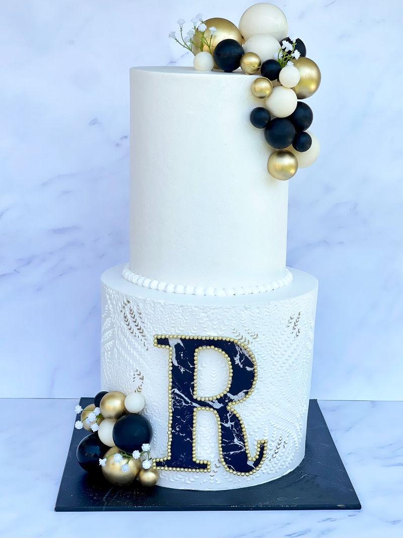 עוגת בת מצווה שתי קומות זילוף