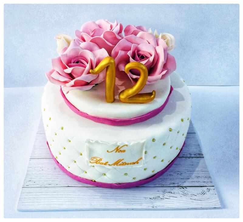 עוגת בת מצווה כשרה מבצק סוכר