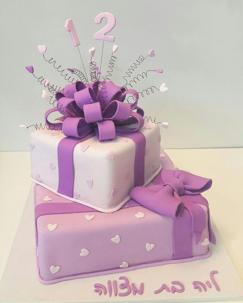 עוגת בת מצווה מתנות מבצק סוכר
