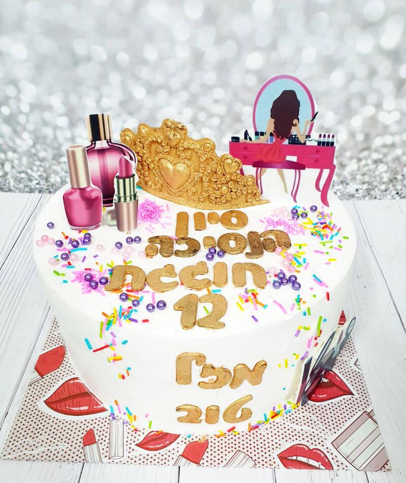 עוגת בת מצווה עם כתר