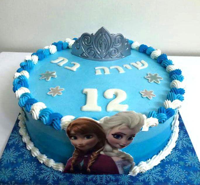 עוגת אלזה ואנה לבת מצווה