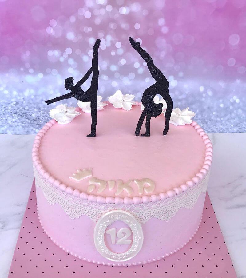 עוגת בת מצווה מיוחדת לרקדנית