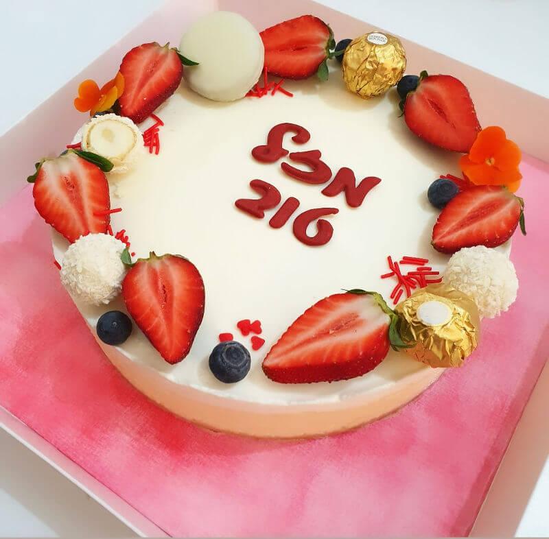 עוגת גבינה אפויה ליום הולדת