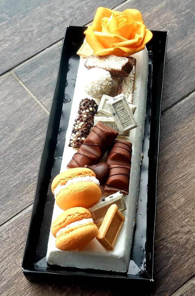 עוגת גבינה ושוקולדים
