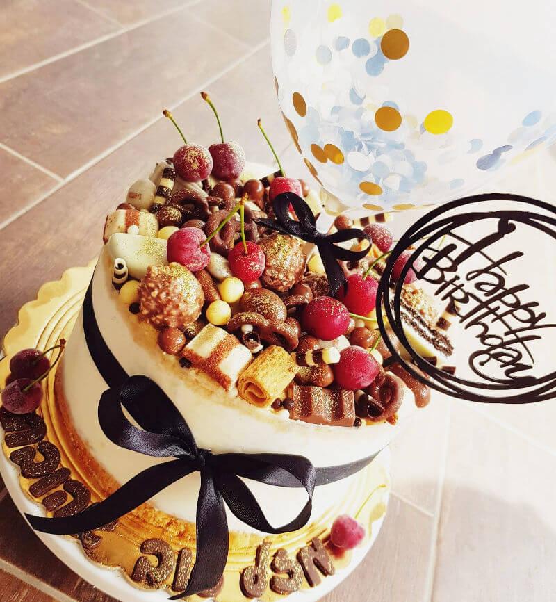 עוגת גבינה פירורים ליום הולדת