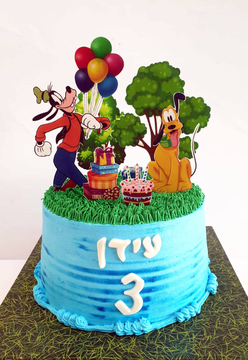 עוגת גופי ופלוטו החברים של מיקי מאוס