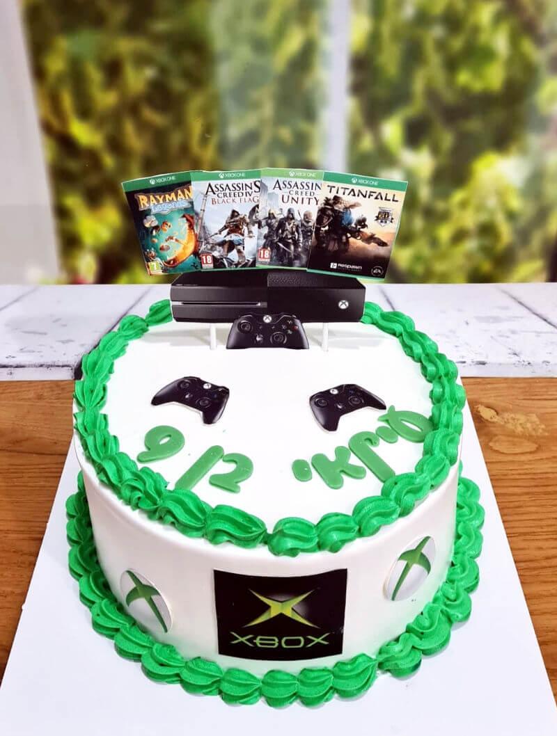 עוגת גיימרים מעוצבת אקס בוקס