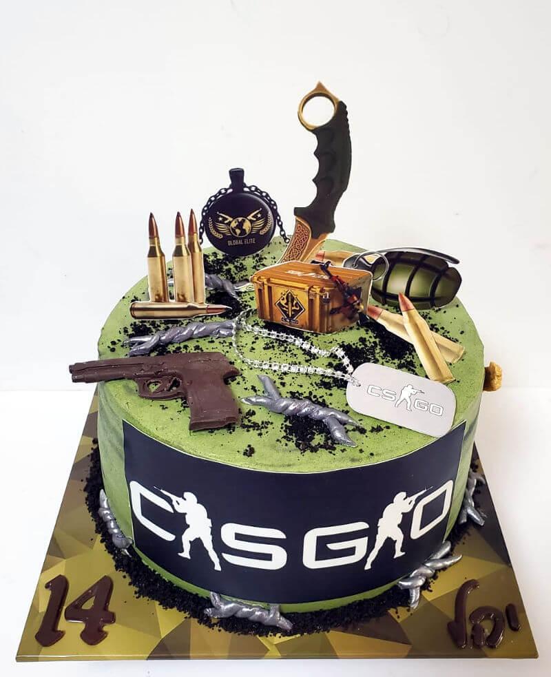 עוגת גיימרים CS GO