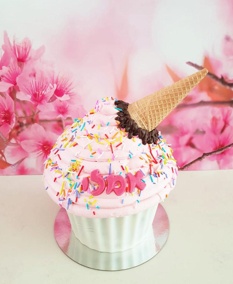 עוגת זילוף גלידה