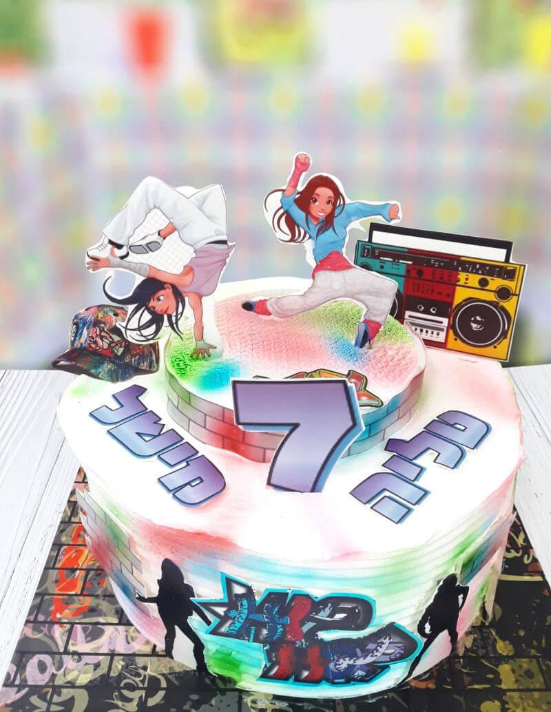 עוגת גרפיטי ללא גלוטן