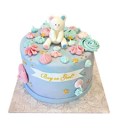 עוגת דובי לגילוי מין העובר