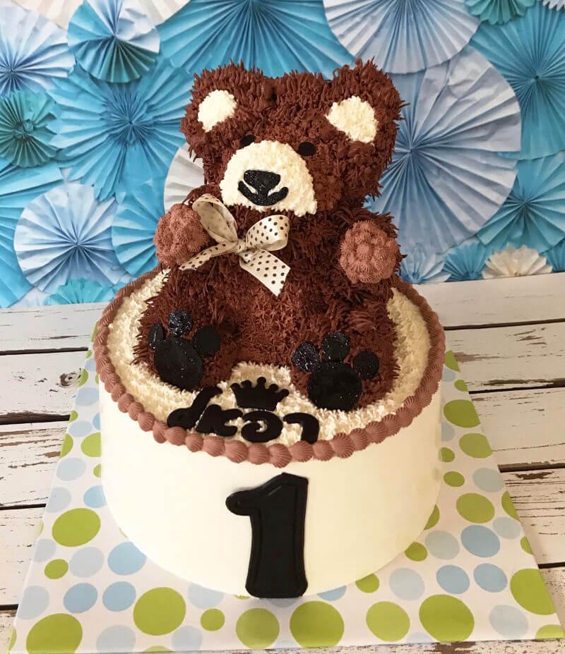 עוגת דובי לגיל שנה